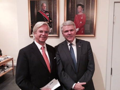 Consul General of Norway in Houston, hosting a dinner in honor of NACC Presidents' Council