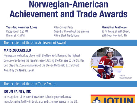 The recipients of the 2014 Norwegian-American Achievement and Trade Awards