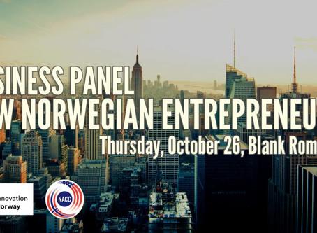 Business Panel: New Norwegian Entrepreneurs, October 26