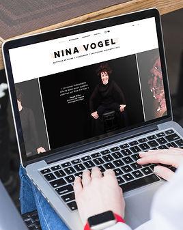 NINA VOGEL site internet artiste agence de communication et marketing LE NEKTAR montréal