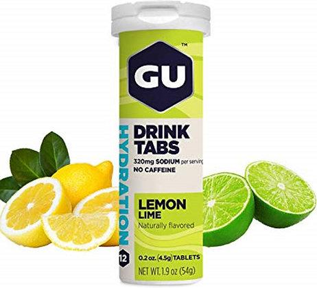 GU Hydration Drink Tabs Lemon Lime Bottle 12 Tablets