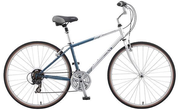 "2015 KHS Brentwood Comfort Hybrid Blue/Silver Size 17"""
