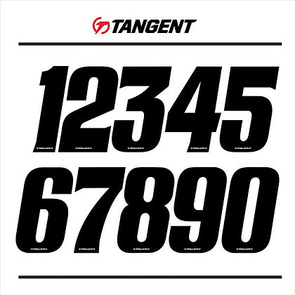 "Tangent 3"" Numbers Black ( Pick Your Number )"