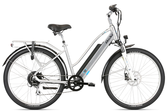 2020 DelSol Lxi i/O Step Though Electric Bicycle Size Small Brush Alloy