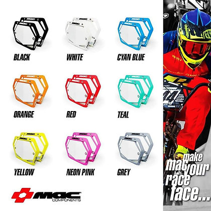 Mac One BMX Number Plates ( Pick Your Size & Color )