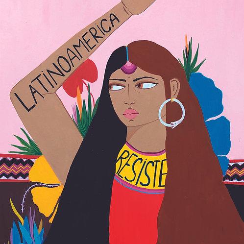 """Print com ilustração - """"Latinoamérica Resiste"""""""