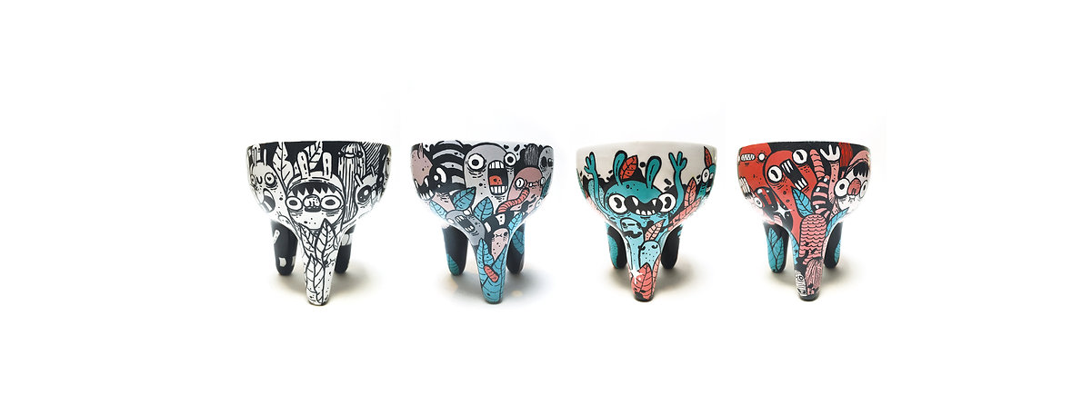 Paz! design, paz design, Coleccion Raiz, coleção Raiz, Raiz collection, porcelana, porcelain, maceta porcelana, Astro, parceria, vasos ilustrados, macetas ilustradas