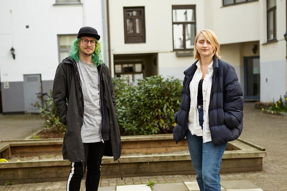 Robert Bergvall (29) og Jenny Hamrell (23) studerer Keramikk ved Kunsthøyskolen i Oslo. Foto Jonas Been Henriksen