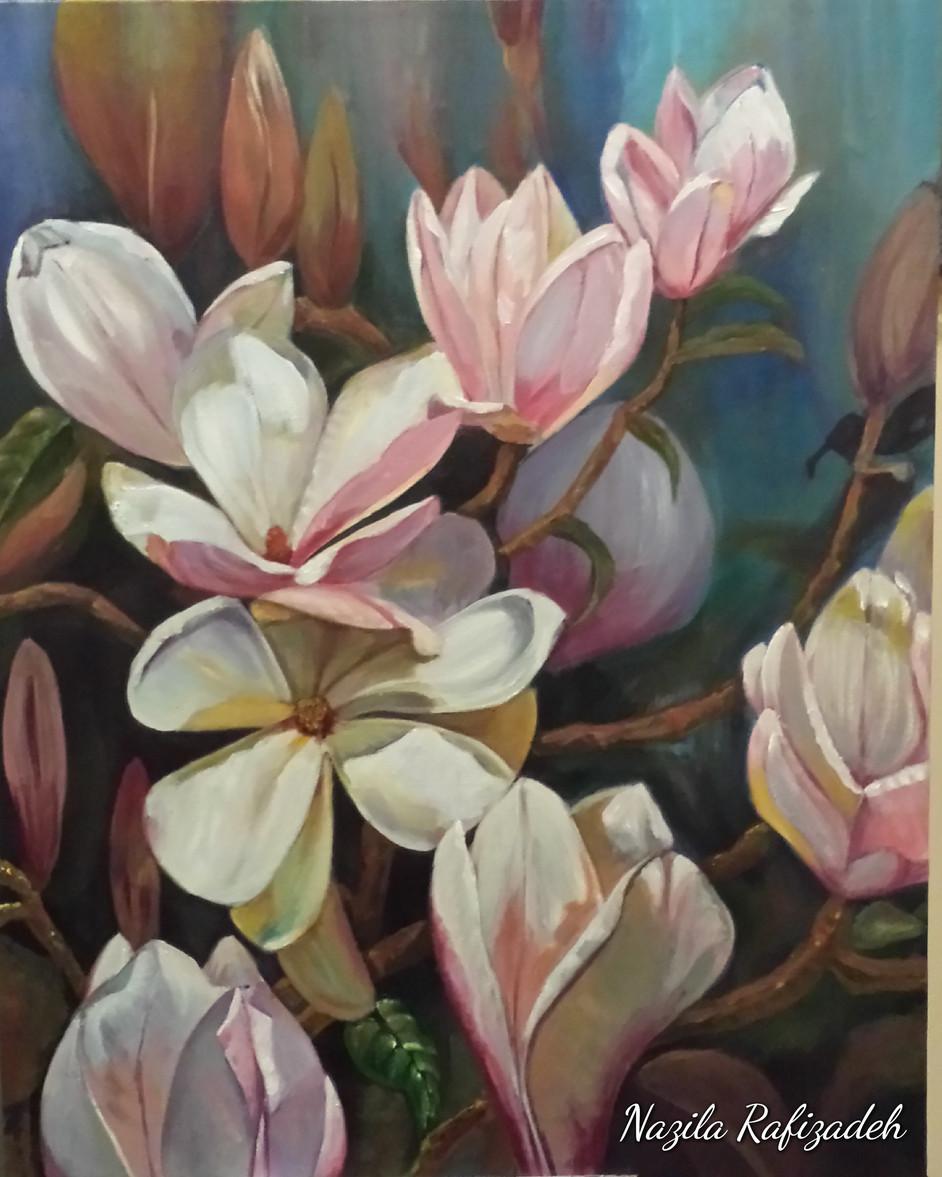 Lovely Magnolia (16x20 Acrylic) $550