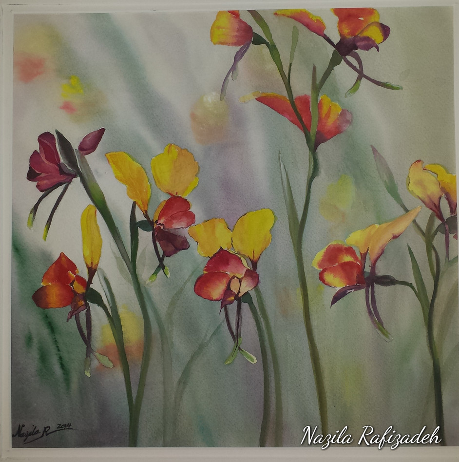 African Orchid (Water Color)