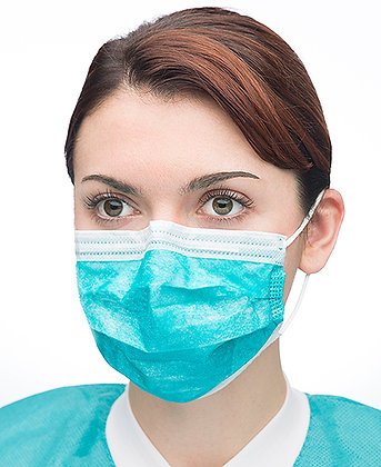 VALUMAX Extra Safe Sensitive Earloop Teal Mask