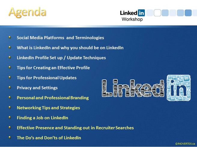 LinkedIn Workshops Topics