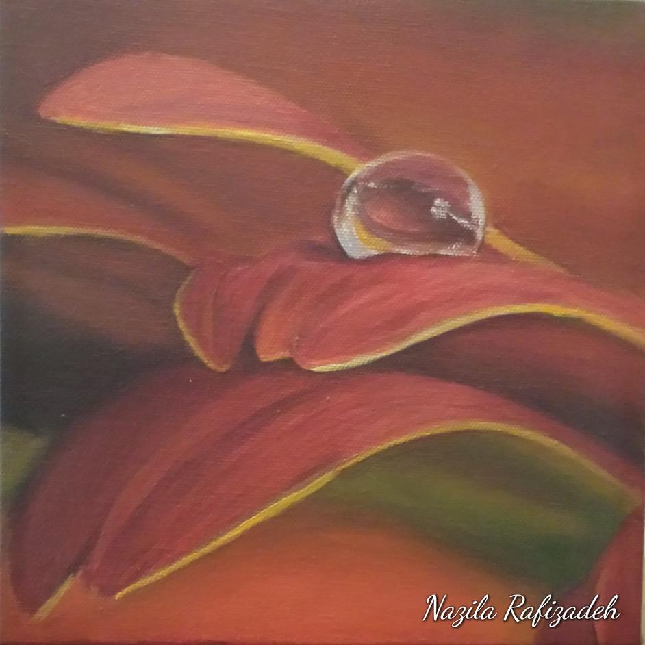 Drop & Flower (8x8 Acryic) $60