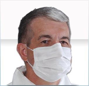 Sensitive Skin Earloop Mask White