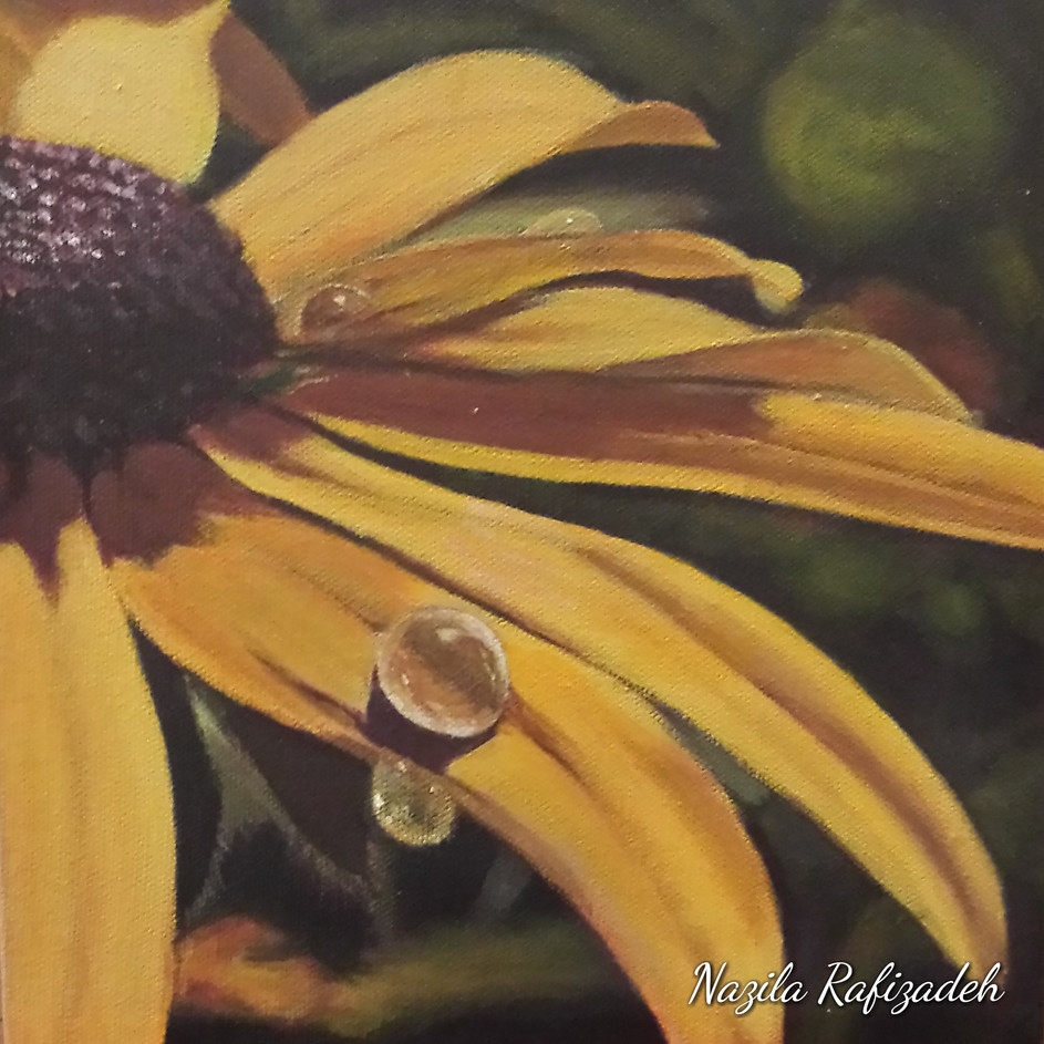 Black Eye & Drop (8x8 Acrylic) $100 (Sold)
