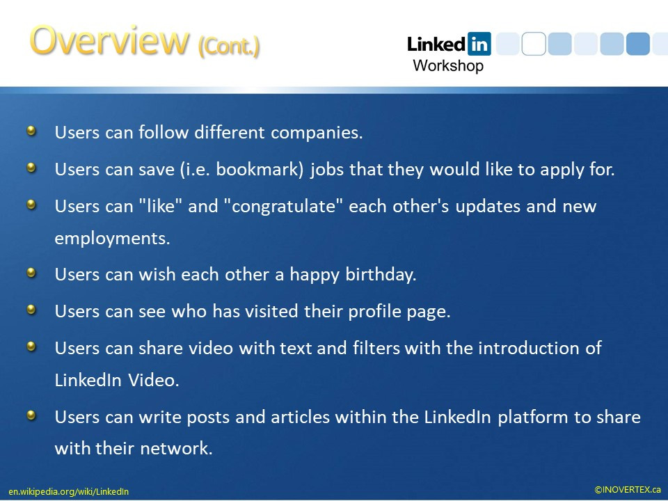 What is the LinkedIn