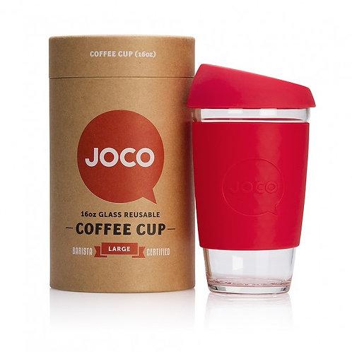 Joco 16oz coffee cup - red