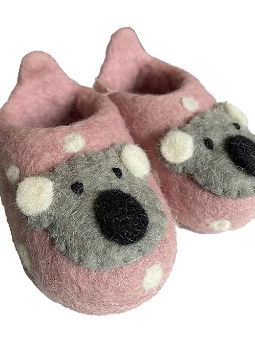 Pashom Koala  Spot Felt Slippers