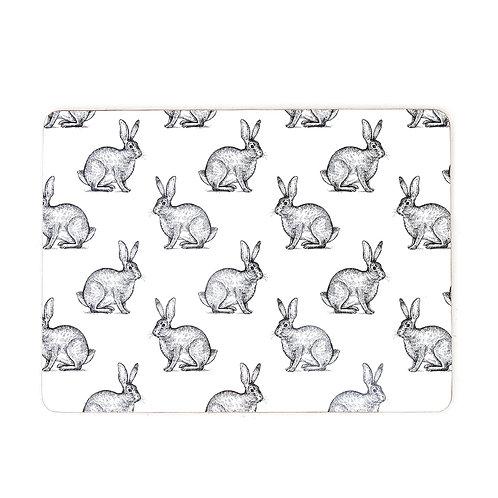 Curious Hare Placemats Set 4