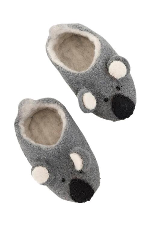 Pashom Koala Felt Slippers