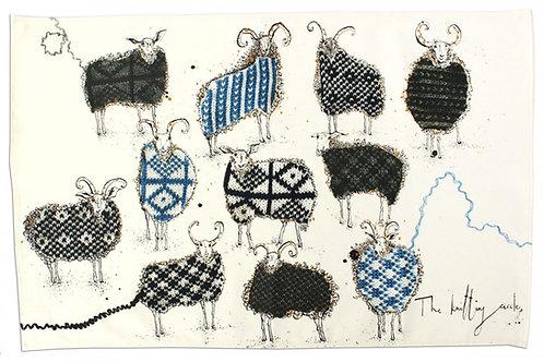 """The Knitting Circle"" Tea Towel"