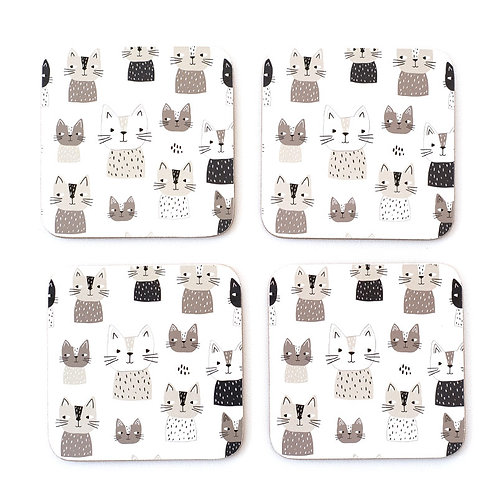 Cat Caper Coasters Set 4