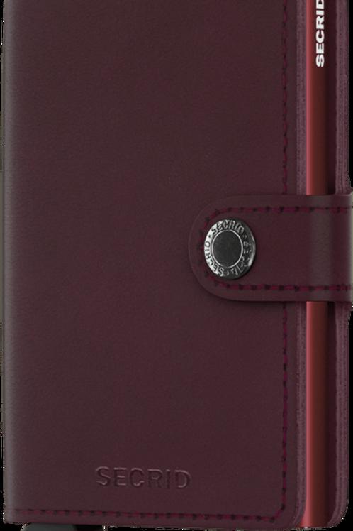 Secrid Mini Wallet - Original Bordeaux #5526