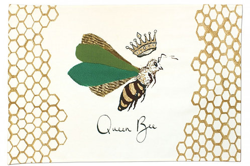 """Queen Bee""  Tea Towel"