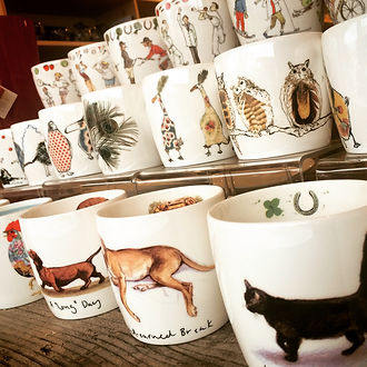 Hudson & Middleton mugs, fine bone china