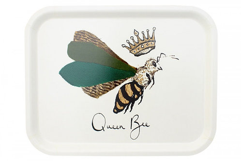 """Queen Bee""  Medium Birchwood Tray"