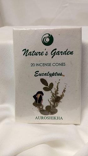NATURES GARDEN INCENSE CONES-EUCALYPTUS