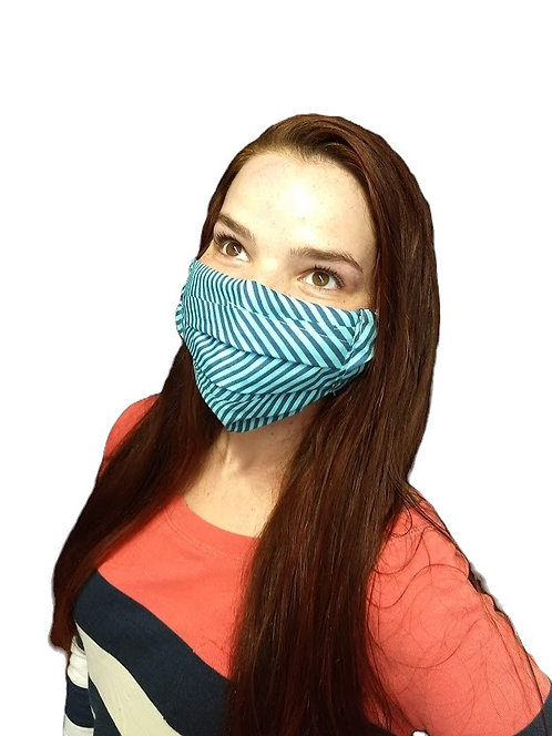 Adult Face Mask 100% Cotton with Filter Pocket