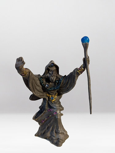 Wizard with Staff/ Pewter