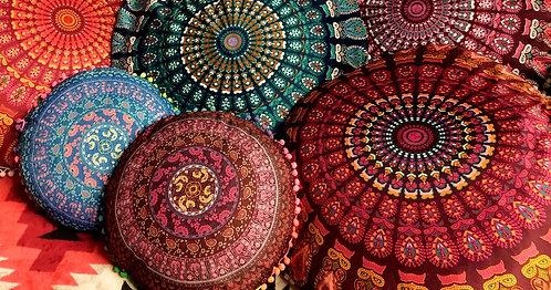 "Meditation Pillow-17"" Mandala"