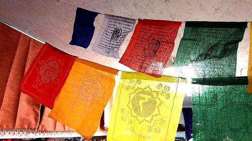 PRAYER FLAG-COTTON/CHAKRAS-56″