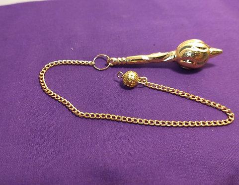 Gold Coloured Metal Pendulum
