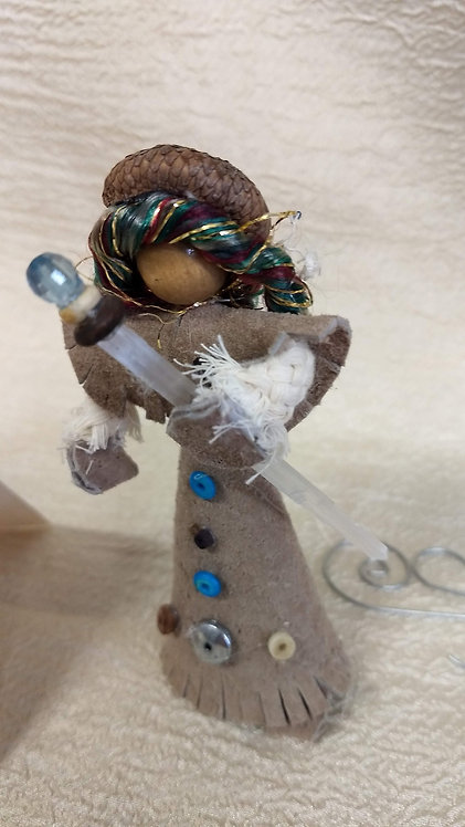 Magickal Fae with Selenite Wand