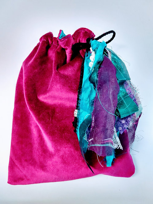 VELVET BAGS-SILK LINED
