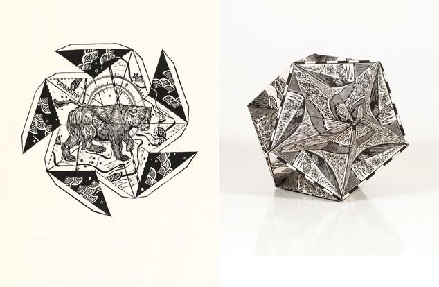 2D and 3D Great Dodechaedron: Ursa Major