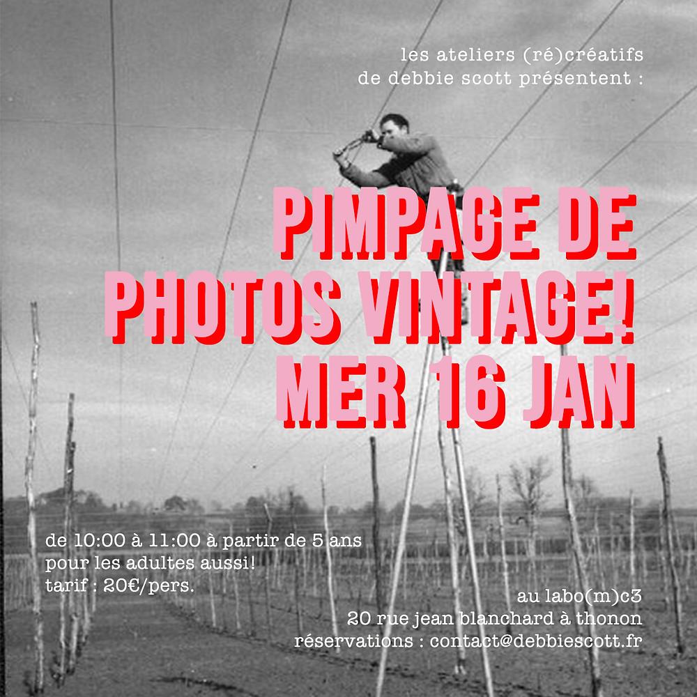photos vintage posca dessin atelier bricolage