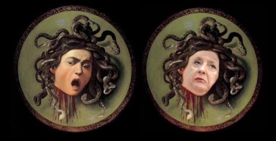 Angela Merkel as Medusa