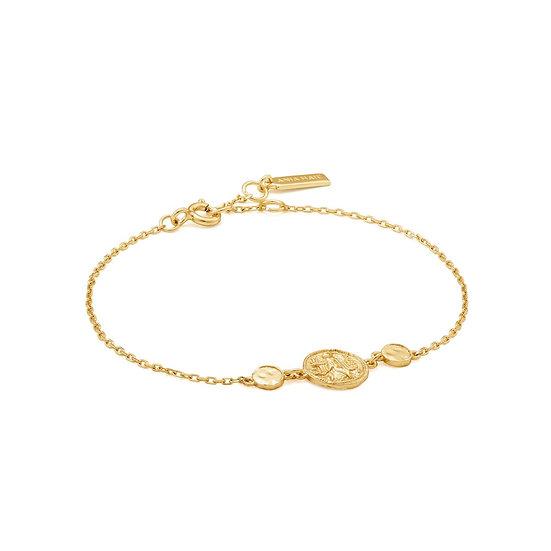 Gold Nika Coin Bracelet