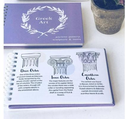 Greek Art Notebook