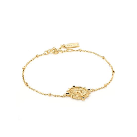 Gold Victory Goddess Coin Bracelet