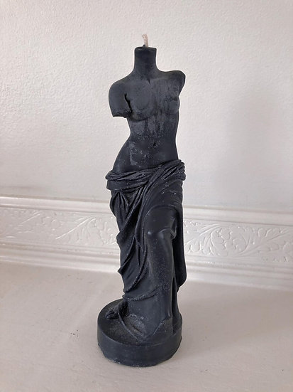 Frosted Black Aphrodite Candle