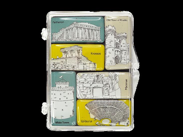 Greek Heritage Magnet Set