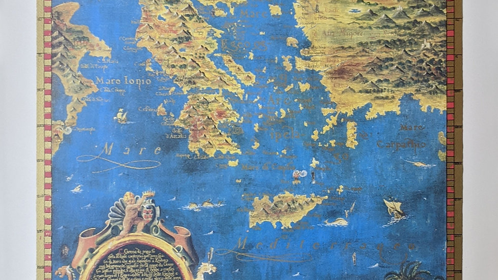 Poster of a Map of Greece