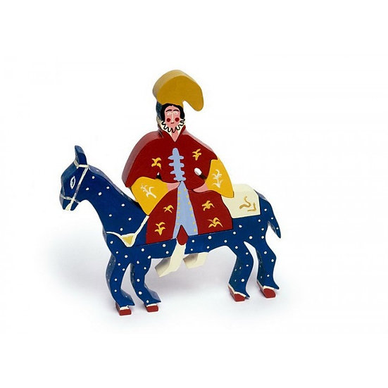 Handmade wooden puzzle- Bride on Horseback