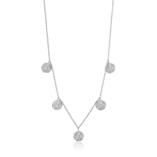 Silver Deus Coin Necklace