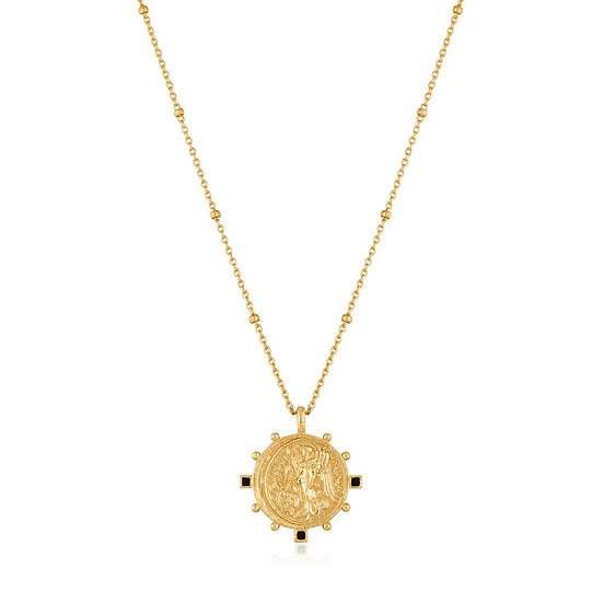 Gold Victory Goddess Coin Necklace
